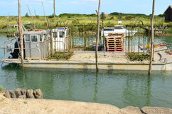 La Tremblade, Oyster farming harbour, Charente Maritime, France Stock Photo