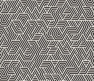La triangle irrégulière noire et blanche sans couture de vecteur raye le modèle géométrique Photographie stock libre de droits