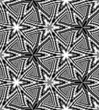 La triangle monochrome sans couture se développe en spirales modèle Fond polygonal abstrait géométrique Illusion optique de persp Image stock