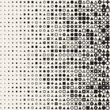 La triangle noire et blanche sans couture de croix de place de cercle de vecteur forme le fond géométrique tramé de modèle de gri Image stock