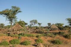 La tribù Hamer del villaggio Fotografia Stock