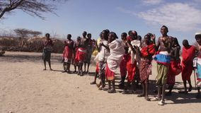 La tribu de Samburu salta danza metrajes