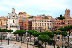 La tribuna di Trajan a Roma Fotografie Stock Libere da Diritti