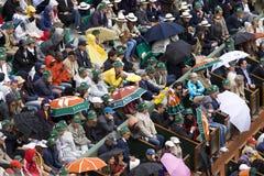 La tribuna nella pioggia al francese si apre, Roland Garros Fotografia Stock