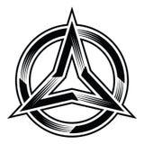 la trinità tre punti star e circonda il vettore dell'illustrazione Fotografie Stock