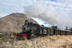 La Trochita Old Patagonian Express, using steam locomotives Stock Photos