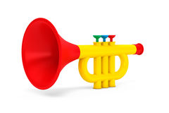 La tromba di Toy Child Immagine Stock Libera da Diritti