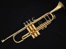 La trompeta de oro Imágenes de archivo libres de regalías