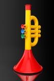 La trompeta de Toy Child Fotos de archivo libres de regalías