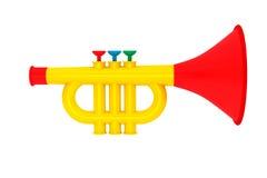 La trompeta de Toy Child Fotografía de archivo libre de regalías