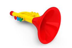 La trompeta de Toy Child Imagen de archivo libre de regalías