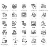 La tubatura di adduzione logistica icone di vettore ha messo 9 illustrazione di stock