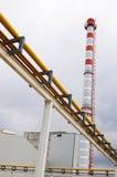 La tubería en la fábrica. imagenes de archivo