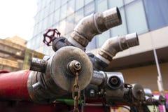 La tubería principal de acero para construir eso apoya mucho vida fotos de archivo libres de regalías