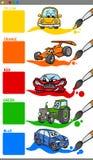 La tubería colorea la historieta con los vehículos Imagen de archivo libre de regalías