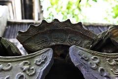 La tuile de gouttières dans des jardins de Suzhou Image stock