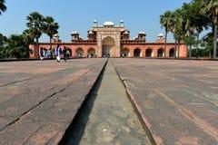 La tumba de Akbar el grande, Agra Imágenes de archivo libres de regalías