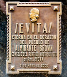 La tumba de Maria Eva Duarte de Peron Imagenes de archivo