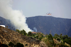 La Tuna Canyon Fire Images stock