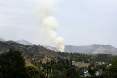 La Tuna Canyon Fire Immagini Stock