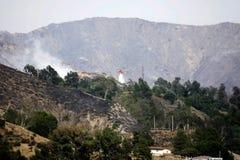 La Tuna Canyon Fire Immagini Stock Libere da Diritti