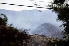 La Tuna Canyon Fire Fotografia Stock
