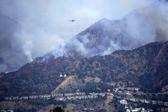 La Tuna Canyon Fire Stock Images