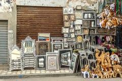 La Tunisia, timbrante sul rame, sul melchior e su perfino d'argento fotografia stock libera da diritti