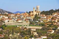 La Turbie ed il DES Alpes, Cote d'Azur di Trophee Fotografie Stock Libere da Diritti