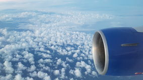 La turbine d'avions de la fenêtre Images stock