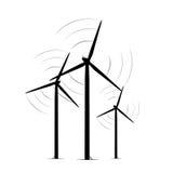 La turbine de vent terrestre domine ferme d'énergie renouvelable illustration stock