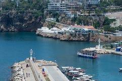 La Turchia Adalia Vecchia città Vista del mare Fotografia Stock Libera da Diritti