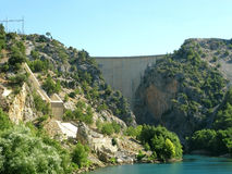 La Turchia. Canyon verde. Diga Fotografie Stock