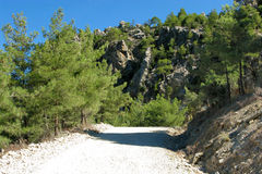 La Turchia. Canyon verde. Strada immagine stock