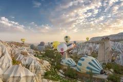 La Turchia, Cappadocia, volante in una mongolfiera Immagine Stock Libera da Diritti