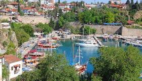 La Turchia. Città di Antalya. Vista del porto Fotografie Stock Libere da Diritti