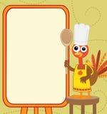 La Turchia con il menu Immagine Stock