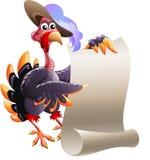 La Turchia con la nota in bianco Fotografie Stock
