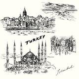 La Turchia, Costantinopoli illustrazione di stock