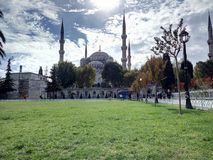 La Turchia Costantinopoli Moschea blu Immagini Stock