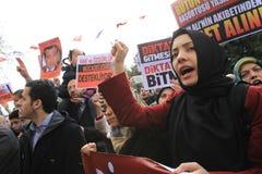La Turchia Demonstraiton Fotografia Stock Libera da Diritti