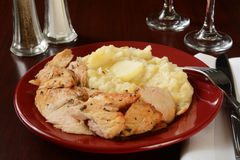 La Turchia e patate Fotografia Stock