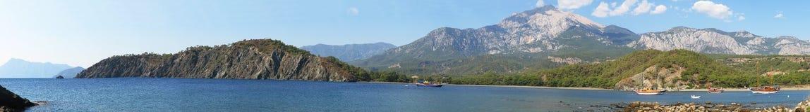 La Turchia, località di soggiorno di Kemer, intarsio di Phaselis Immagini Stock Libere da Diritti