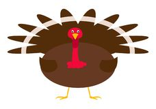 La Turchia nello stile piano immagini stock