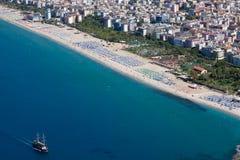 La Turchia. Paesaggio urbano di Alanya Immagine Stock Libera da Diritti