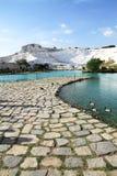 La Turchia - pamukkale (castello del cotone) fotografia stock libera da diritti