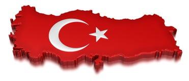 La Turchia (percorso di ritaglio incluso) Immagine Stock