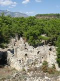 La Turchia Phaselis: rovine antiche di thermae Immagine Stock
