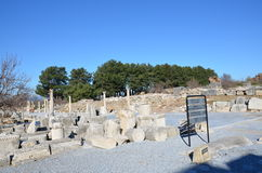 La Turchia, Smirne, Bergama in greco l'introduzione piacevole differente ellenistica del greco antico A, questo è una civilizzazi Immagine Stock Libera da Diritti
