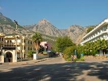 La Turchia - vista del villaggio di Beldibi nei precedenti del immagini stock